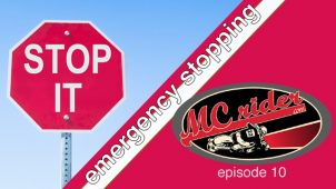 How to stop a motorcycle in an emergency – Episode 10